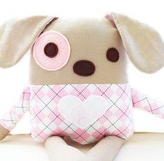 Dog Sewing Pattern - Plush Dog Softie Pattern - PDF