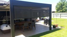Enclose a Patio in New Zealand with Australian Made Ziptrak® outdoor screens and protect your outdoor living area from the elements all year long. Outdoor Living Areas, Outdoor Rooms, Living Spaces, Outdoor Decor, Outdoor Screens, Cool Fire Pits, Open Fires, Unique Gardens, Bars For Home