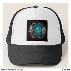 Vesicle Pisces Trucker Hat - Urban Hunter Fisher Farmer Redneck Hats By Talented Fashion And Graphic Designers - #hats #truckerhat #mensfashion #apparel #shopping #bargain #sale #outfit #stylish #cool #graphicdesign #trendy #fashion #design #fashiondesign #designer #fashiondesigner #style