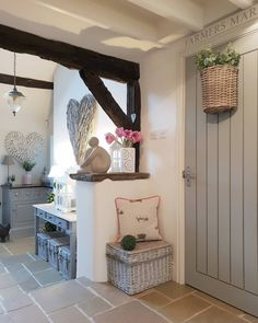 Country Kitchen Converted Barn Heart wall decor Entryway and Hallway Decorating Ideas barn converted Country Decor Heart Kitchen Wall