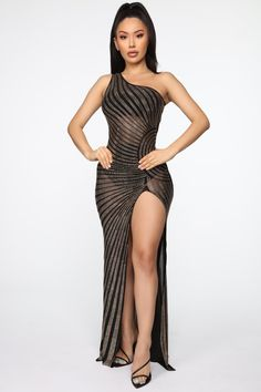 Shine On Me Maxi Dress – Black – Daily Fashion Stylish Dress Designs, Stylish Dresses, Stylish Outfits, Sexy Dresses, Formal Outfits, Party Frock Designs, White Party Attire, Look Fashion, Fashion Outfits
