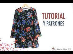 DIY Costura Blusa manga amapola para mujer (patrones gratis) - YouTube
