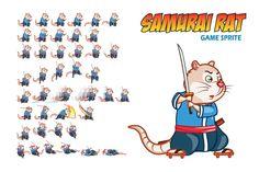 Samurai Rat Game Sprite by Gagu on Creative Market