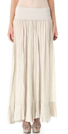 New York Fold Over Broomstick Skirt