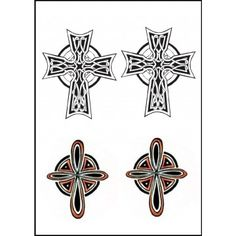 tatouage éphémère croix celtique