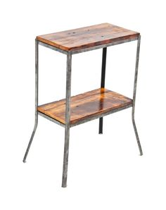 refinished antique c. american industrial stationary side table with an all-welded angled steel brushed metal frame supporting old growth pine wood shelves Dark Wood Trim, White Wood Floors, White Wood Kitchens, Window Seat Storage, Living Room Wood Floor, Easy Wood Projects, Wood Burning Patterns, Wood Kitchen Cabinets, Tv Decor