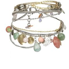 Chalcis Bracelet (92 BRL) ❤ liked on Polyvore featuring jewelry, bracelets, accessories, pulseras, pulseiras, women, chains jewelry, steel bangles, steel jewelry and allsaints