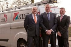L-R: Tony Oakman, Corporate Director of People Services at Stoke on Trent City Council, David Mawson, Kier Regional Managing Director and Jo...