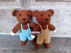 Teddy Bear - NL Translation ~ Zan Crochet, #haken, gratis patroon, Nederlands, amigurumi, knuffel, speelgoed, beer, teddybeer, #haakpatroon
