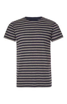 Grey And Navy Stripe T-Shirt