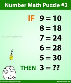Can you solve this High IQ Number Math Puzzle ? With answer Number Math Puzzle 2 (Hard). Can you solve this High IQ Intelligence Number math puzzle test. Interesting Number Tricks Math Puzzles Problems and riddles. Only For Genius Math Puzzle Problems Math Puzzles Brain Teasers, Math Logic Puzzles, Mind Puzzles, Number Puzzles, Brain Riddles, Math Riddles With Answers, Brain Teasers With Answers, Tricky Questions, Math Questions
