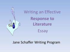 jane schaffer essay