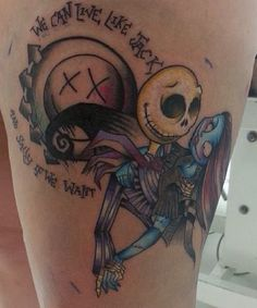 Blink 182 + Jack and Sally Skellington | The Nightmare Before Christmas Tattoo