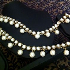 Dangling Pearl Payal Kundan Like or Anklet- Ethnic Indian Bollywood Jewelry o3w #ADIVA