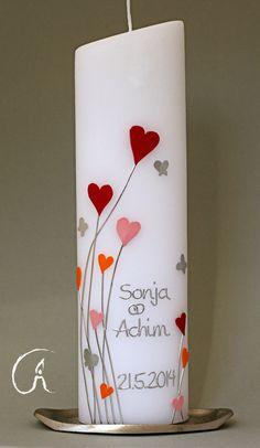 Hochzeitskerzen & Beleuchtung - Hochzeitskerze Herzen - ein Designerstück von Feierlicht bei DaWanda