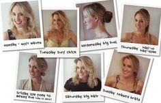 7 hairstyles for everyday of the week