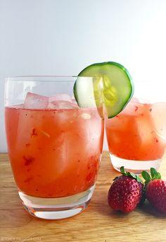 Strawberry Cucumber Margarita Recipe.