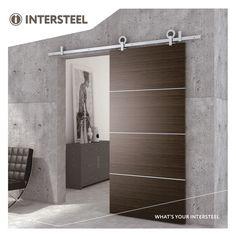 Intersteel Schuifdeursysteem Modern Top roestvast staal geborsteld Decor, Furniture, Puertas, Lighted Bathroom Mirror, Deco, Home Decor, Bathroom Mirror, Sliding Doors, Barn Door