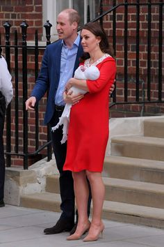 Prince William and Duchess Kate leave hospital with their newborn baby boy in London on April 23, 20... - David Fisher/REX/Shutterstock