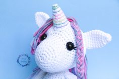 unicorn plush toy, stuffed unicorn, white unicorn, gift for girls, baby gift, birthday gift, fantasy nursery decor, toy for girl, unicorn, Crochet Baby Toys, Crochet Hats, Toys For Girls, Gifts For Girls, Stuffed Unicorn, Dinosaur Stuffed Animal, White Unicorn, Nursery Decor, Baby Gifts