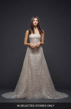 6b154d2d Free shipping and returns on Lazaro Sparkle Plaid Strapless Gown at  Nordstrom.com. This