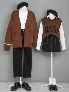 마리쉬♥패션 트렌드북! Japanese Outfits, Japanese Fashion, Korea Fashion, Asian Fashion, Edgy Outfits, Fashion Outfits, Mens Fashion, Clothes Mannequin, Matching Couple Outfits