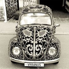 Volkswagen Beetle constructed with wrought-iron by Croatian gate & fence company, Vrbanus