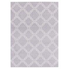 """Gray Shadow Abstract Tufted Area Rug - (6'7""""X9'6"""") - Surya, Medium Gray"""