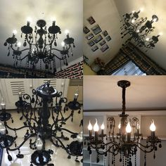 Poersi Black Crystal Chandelier Kitchen Lighting Wrought Iron Chandeliers for Dining Room Lamps Black Lighting -- Want additional info? Click on the image.-It is an affiliate link to Amazon. #DiningRoomLighting