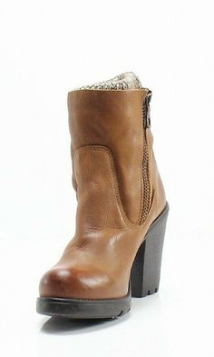 17197a8b94e Steve Madden NEW Brown Leather Sweaterr Women s Size 6M Ankle Boots  169-   432  fashion  clothing  shoes  accessories  womensshoes  boots (ebay link)