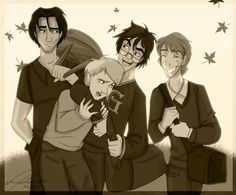 Goofing about #marauders #harrypotter