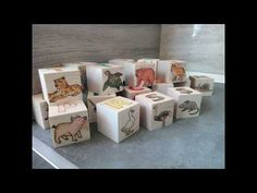 Pyrography and watercolors - How to make alphabet wooden blocks Alphabet Blocks, Wooden Blocks, Woodburning, Pyrography, Watercolors, Decorative Boxes, Gift Wrapping, Youtube, Projects