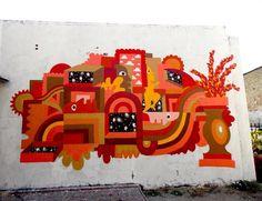 Great work by @darryperier #globalstreetart #france #streetart #mural #abstractart http://globalstreetart.com/darryperier