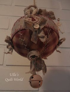 Quilted ball, angel and lantern by Ulla's Quilt World