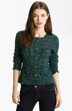 Bailey 44 Green Divorce Italian Tweed Jacket   $174