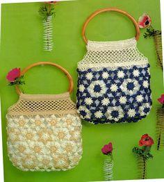 crafts for summer: cute flower bag, free crochet patterns | make handmade, crochet, craft