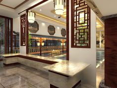 2015 Graduate Design_Yun Lin Shan Ju Resort Hotel Interior Design_Lobby_Reception