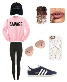 """Savage"" by ella-mair on Polyvore featuring Topshop, Proskins, LORAC, Casetify, Nasaseasons and Ray-Ban"