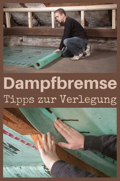 You do not get around a vapor barrier when insulating the roof. It prevents moisture from entering the insulation and from escaping again. We give tips for selecting the material and the correct installation! roof insulate # rnrnSource by Diy Roofing, Modern Roofing, Roof Decoration, Attic Organization, Small Space Interior Design, Garage Makeover, Attic Renovation, Upcycled Home Decor, Outdoor Venues