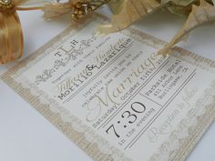Lace Vintage Rustic Wedding Invitations by MyMemorableDesigns, $3.00