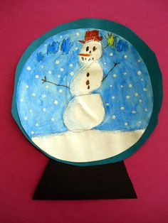 Here are some super cutesnow-globeillustrations created by Grade 1 students.   I provided each student with a large circle drawn on ...