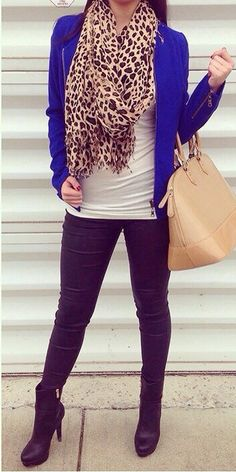 Leopard with pops of color. Classic!