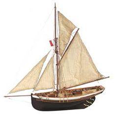 Artesania Latina  Jolie Brise Famous 1913 Le Havre Pilot Cutter with Pre Sewn Sails Wooden Boat Kit 22180