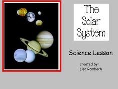 My Solar System SmartBoard Lesson is a great way to introduce your primary students to the solar system!  (.notebook file for smart board)