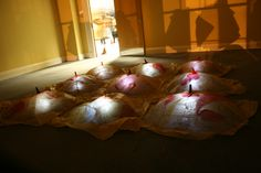 'Eggs' installation at 'Office Space' Clarendon House, George Street, Edinburgh, Nov 2012