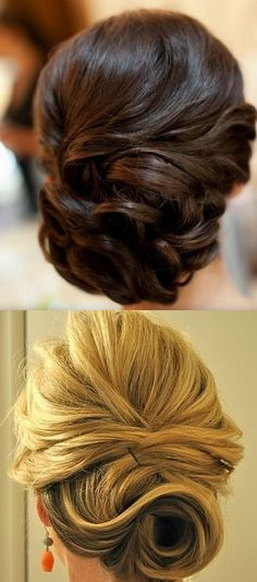 Gorgeous Side Pinned Curls Chignon