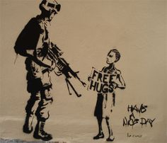 anti war  Free hugs is always here from jesus.