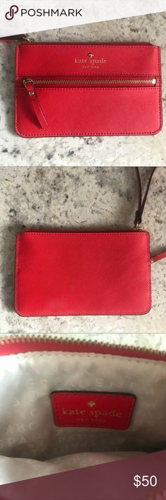 Kate Spade Cherry Red Wristlet NWOT Red Kate Spade Wristlet kate spade Bags Clutches & Wristlets