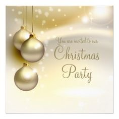 An elegant Christmas party announcement which is perfect for ...
