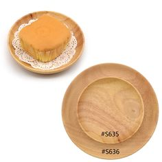 Healthy Natural Rubber Wood Candy Fruit Tray Serving Plate Round Dish Wooden Dinnerware